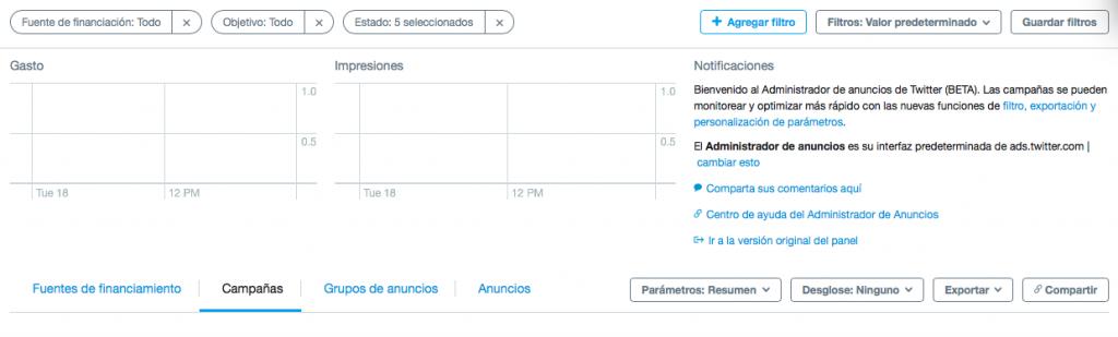 Administrador de Anuncios de Twitter - otromarketing.es