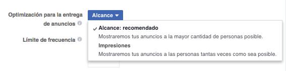 Objetivos de Aumentar el Alcance en Facebook Ads
